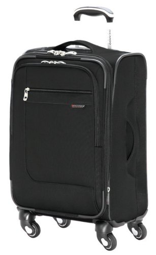 Ricardo Beverly Hills Luggage Sausalito Superlight 2.0 20-Inch 4W Expandable Spinner Carry-On, Black, Medium -