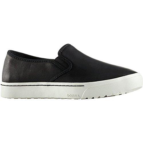 Women's Campsneak Sneaker on SOREL Grain Full Black Leather Slip pdwq55IxB