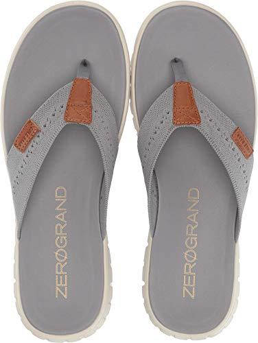 Cole Haan Men's Zerogrand Stitchlite Thong Sandal Ironstone Knit/Ivory 10 D US