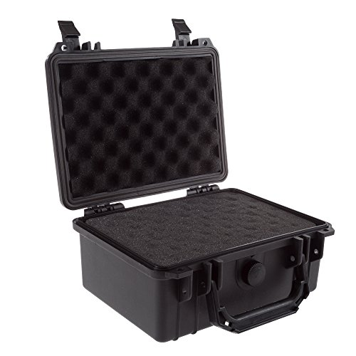 Stalwart Gun and Camera Case - Waterproof Carrying Case with Foam for Pistols, Handguns, Knives, Electronics, Camera Gear, and Lens 9.13 x 7.55 in