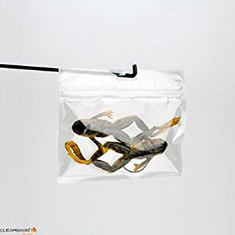 Great for Organization Storage Reclosable Zipper Bag with Hang Hole and Tear Notches HZB44A Pack of 100 ClearBags 4 x 4 Clear Hanging Zip Barrier Bags and Snacks