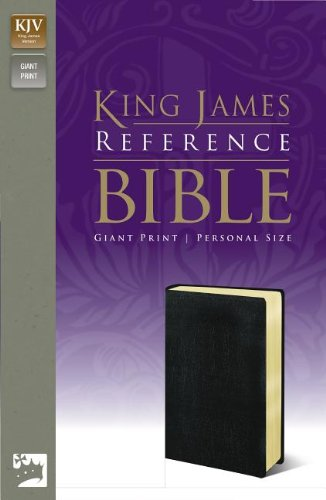 KJV, Reference Bible, Giant Print, Personal Size, Imitation Leather, Black, Red Letter Edition