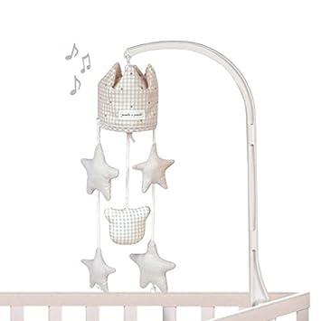 Pasito a Pasito 73614 - Móvil musical, diseño vichy beige petite etoile