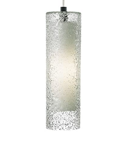 Lbl lf553crsc2d rock candy mini cylinder pendant 1 light halogen nickel