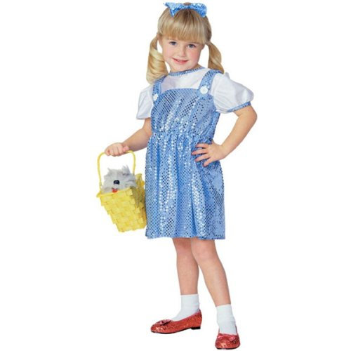 Sequined Dorothy Costume - Choose Size (1-2 years with Bracelet for (Sequined Dorothy Costumes)