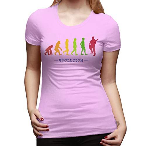 Burton Edith Guitar Player Evolution Guitarist Musician Women's Short Sleeve T Shirt Color Pink Size 32 ()