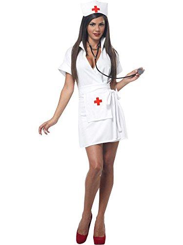 California Costumes Women's Fashion Nurse Costume, White Small ()