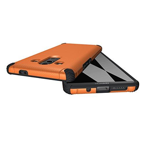 CarcasaHuawei Mate 10 Pro, LifeePro Funda de la Caja del Teléfono a Prueba de Golpes TPU + PC Armadura Combinada híbrida Caso de Alto Impacto Durable Phone Defender (Naranja) Naranja