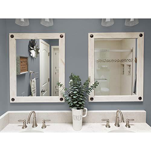 Modern farmhouse vanity mirror electric scrub brush bathroom