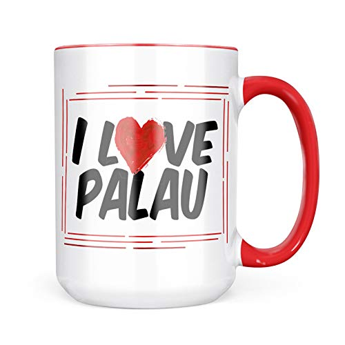 Neonblond Custom Coffee Mug I Love Palau 15oz Personalized Name