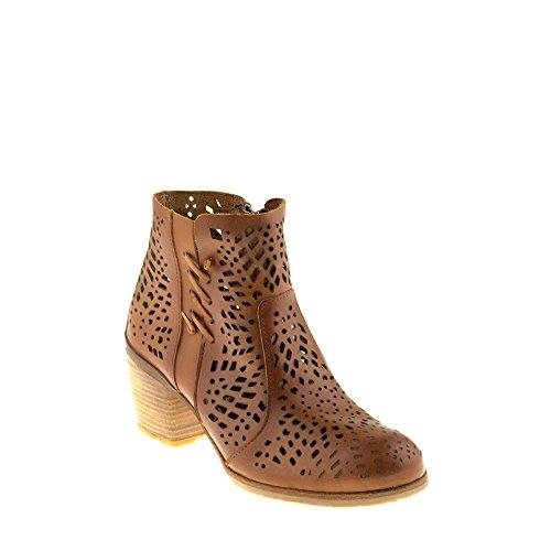 Zapatos B084 com Felmini Genuino Cana Marr Mujer Enamorarse Cremallera Para Botines con Cuero AIywYqwd