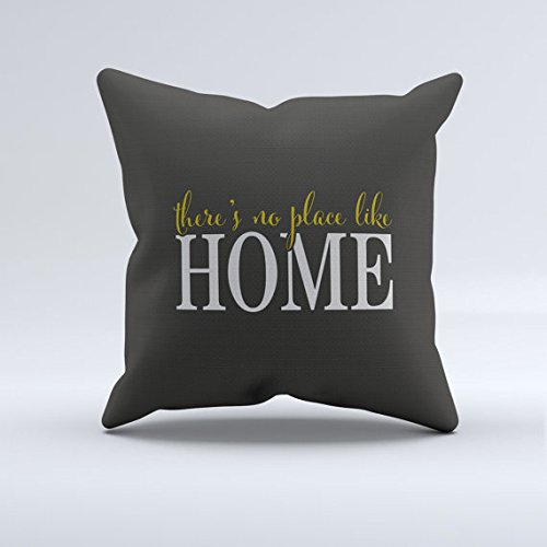 Home Throw Pillow  No Place Like Home Throw Pillow  Mustard Yellow Gray And White Throw Pillow  Modern Throw Pillows