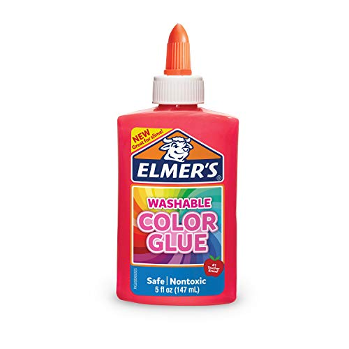 Elmer's Washable Color Glue, Pink, 5 Ounces, Great for Making Slime