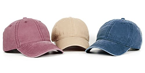 Glamorstar Classic Unisex Baseball Cap Adjustable Washed Dyed Cotton Ball  Hat 84baffe2bf20