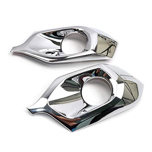 for Mitsubishi Pajero Sport Montero Sport Shogun Sport 2016-2018 ABS Chrome Front Fog Lamp Light Cover Trim 2PCS