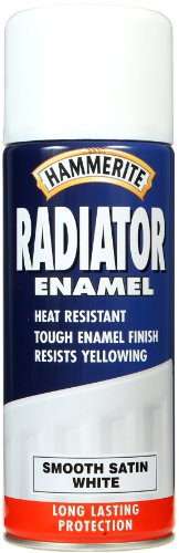 Hammerite 400ml Radiator Enamel Aerosol - Satin White
