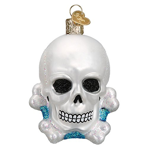 Old World Christmas Glass Blown Ornament Skull and Crossbones Bones