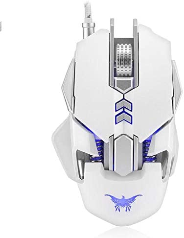 Light Game Mouse CW30 USB Wired Gaming Mouse 3200DPI 7 Buttons 1000Hz Return Rate Weight Tuning Optical Mice for PC Laptop Sala-Deco