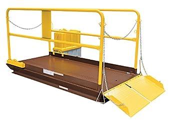 "Vestil WL-100-8-68 Premium Truck Scissor Dock Lift, 8000 lb. Capacity, 6"" x 8"", Brown/Yellow"