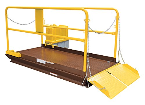 Vestil-WL-100-8-710-Premium-Truck-Scissor-Dock-Lift-8000-lb-Capacity-7-x-10-BrownYellow