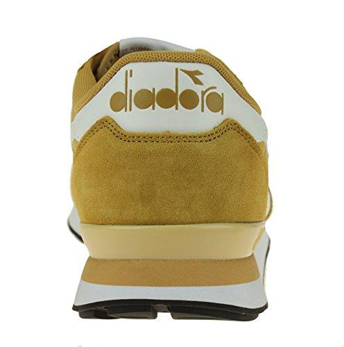 Diadora Mens Camaro Läder Skateboard Skor Bärnsten Guld / Vit