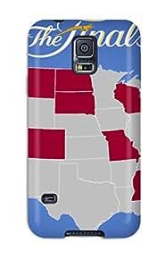 Faddish Phone San Antonio Spurs Basketball Nba Miami Heat Case For Galaxy S5 / Perfect Case Cover