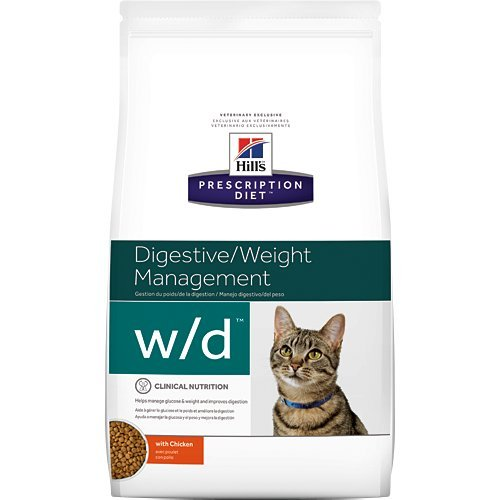 Hill's Prescription Diet w/d Digestive Weight Management with Chicken Dry Cat Food 17.6 lb by Hill's Pet Nutrition