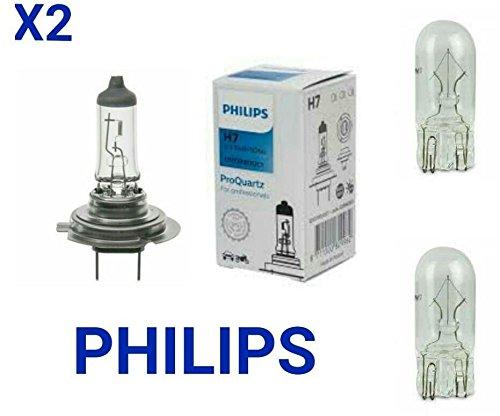 PHILIPS H7 12V/55W Super Halogen Light Bulb Standard, (Pack of (Standard Halogen Bulb)