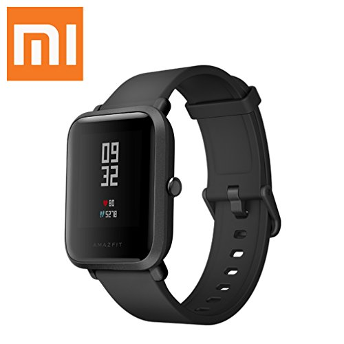 "Xiaomi Mi Amazfit Bip Watch (Wrist (6.5-9"") Black) Huami Smart Bluetooth band with Heart Rate Monitor Pedometer Activity and Sleep Monitor Fitness Tracker GPS IP68 Waterproof"