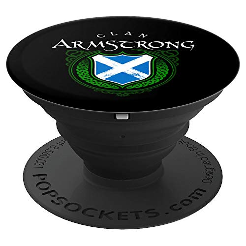 Clan Armstrong Surname Scottish Clan Scotland Flag Shield PopSockets Grip and Stand for Phones and Tablets