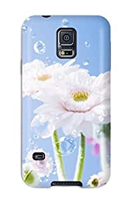 Hot Pretty Flowers And Sky First Grade Tpu Phone Case For Galaxy S5 Case Cover