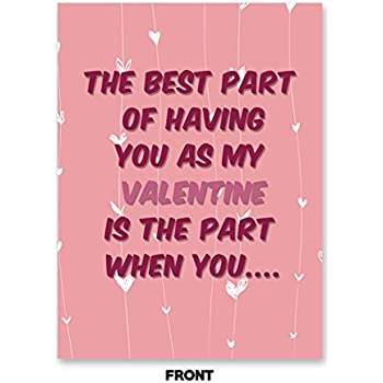 Amazon.com : DIRTY HUMOR - Funny, Cute Happy Valentine\'s Day Card ...