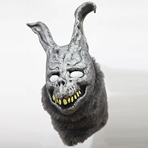 Donnie Darko Frank the Bunny Mask Latex Overhead with Fur Scary Animel Rabbit Mask by hearty (Frank The Bunny Costumes)