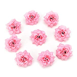 Artificial Flowers Fake Flowers Heads Mini Silk Rose Wedding Home Decorative DIY Party Festival Home Decor Wallet Gift Cut & Clip Simulation Cheap Fake Flower 30pcs 4.5cm (Pink) 17