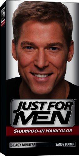 Just for Men shampooing-la couleur des cheveux, blond Sandy 10, 1 application (Pack de 3)