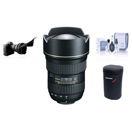 Tokina 16-28MM F/2.8 ATX Pro FX Zoom Lens For Canon EOS Dig SLR Camera, BUNDLE