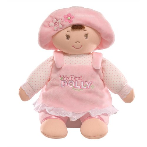(GUND My First Dolly Stuffed Brunette Doll Plush, 13