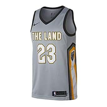 Nike NBA Cleveland Cavaliers Lebron James 23 LBJ 2017 2018 City Edition Jersey Official, Camiseta de Niño