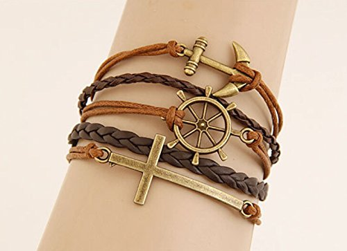 2015-promotion-discount-steampunk-bradided-wax-cords-love-cross-anchor-owl-hungry-games-charms-brace