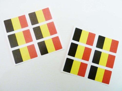 - Minilabel Mini Sticker Pack , 33X20mm Rectangle , Self-Stick Belgium Labels , Flag Stickers