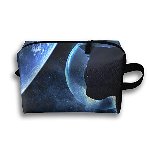 Moon With Cat Cosmetic Bags Makeup Organizer Bag Pouch Zipper Purse Handbag Clutch Bag]()