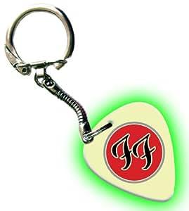 Foo Fighters FF brilla en la oscuridad Púas para guitarra Premium Llavero