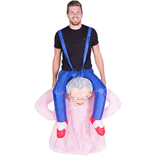 [Bodysocks - Inflatable Ride Me Adult Carry On Animal Fancy Dress Costume (Grandma)] (Old Grandma Costumes)