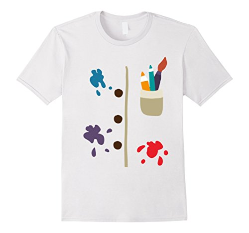 Painter Halloween Costume (Mens T-Shirt Halloween Costume gift drawing table painter Small White)