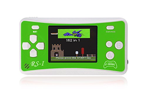 "E-MODS GAMING® RS-1 NEW! 8-Bit Retro 2.5"" LCD 162x Video Games Portable Handheld Console (Green) from E-MODS GAMING"