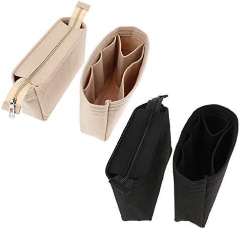 ハンドバッグ バッグインバッグ 雑物ポッチ 化粧品/キー/ノート入れ マルチポケット 大容量