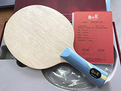DHS Hurricane Long 5 - FL (5 Wood + 2 Aryl-Carbon) Table Tennis/Ping Pong Blade ()