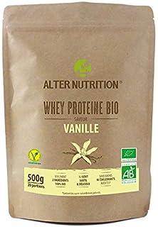 Alter Nutrition - Whey (proteína de suero de leche) ecológica: Proteína whey ecológica de 2 ingredientes: lactosuero…