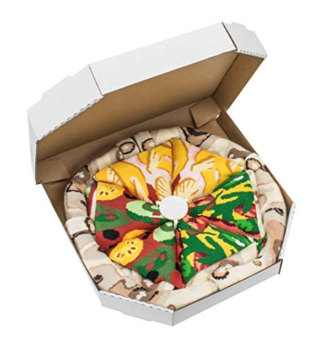 PIZZA SOCKS BOX 4 pairs MIX Hawaii Italian Vege Cotton Socks S Made In EU