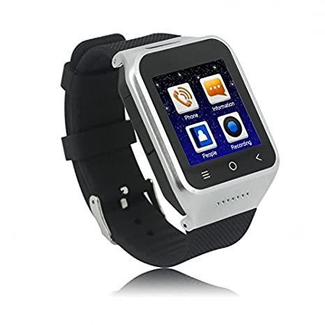 ZGPAX S8 Smartphone Bluetooth Reloj Inteligente Android 4.4 MTK6572 Dual Core GPS 2.0MP Cámara WCDMA WiFi MP3 MP4 Smartwatch U8 PK Q18: Amazon.es: ...